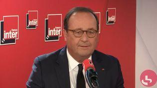 François Hollande, ancien président de la République, était invité de France Inter, lundi 30 septembre. (FRANCEINTER)