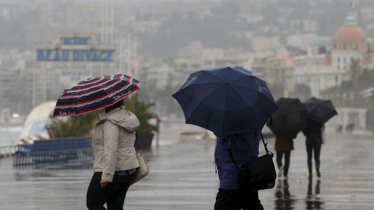 Le sud de la France a connu plusieurs phénomènes météos violents en novembre 2016. Ici, à Nice. (MAXPPP)
