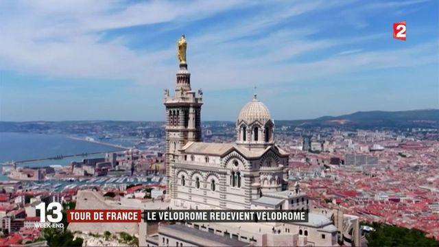 Tour de France : passage au vélodrome de Marseille