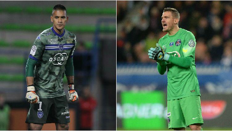 Le gardien de but de Bastia, Alphonse Areola, et celui du PSG, Nicolas Douchez
