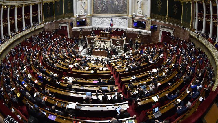 Une vue générale de l'Assemblée nationale lors d'une séance de questions au gouvernement, le 14 mars 2018. (GERARD JULIEN / AFP)