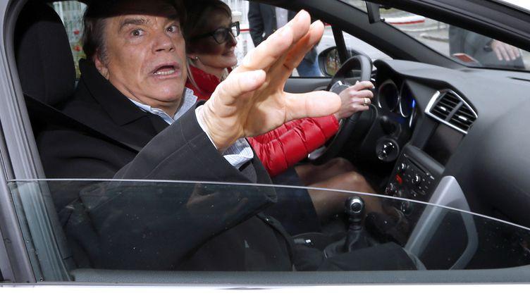 Le tout nouveau patron de presse Bernard Tapie, le 20 décembre 2012 à Nice (Alpes-Maritimes). (VALERY HACHE / AFP)