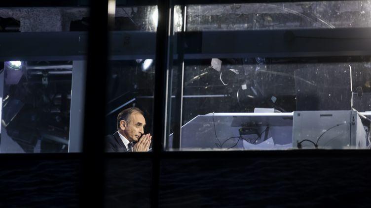 Le polémiste Eric Zemmour sur le plateau de CNews, le 21 octobre 2019 à Boulogne-Billancourt (Hauts-de-Seine). (MAXPPP)