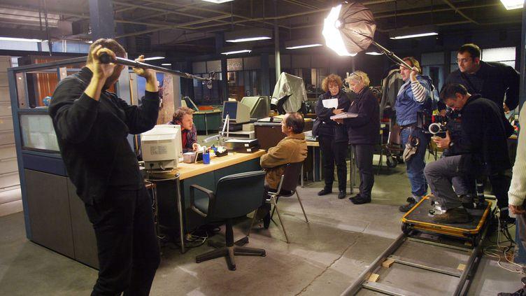 Tournage en studio de la série télévisée Central Nuit en 2003  (JOEL ROBINE / AFP)