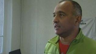Yves Robert, du syndicat des policiers SNOP, à Marseille, lundi 26 décembre 2011 (France 3 Marseille)