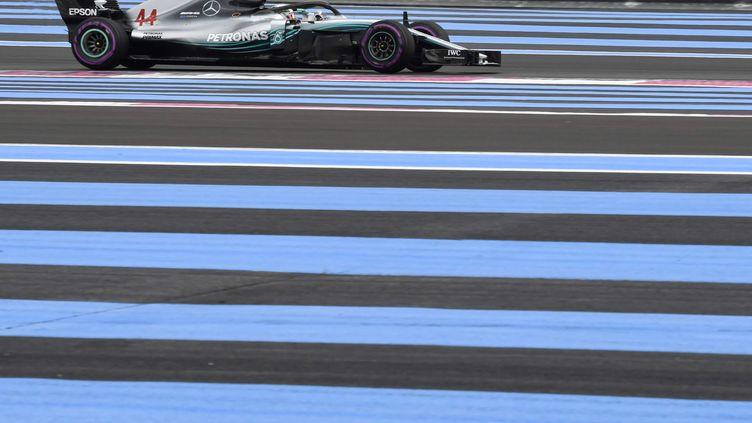 Lewis Hamilton sur le circuit Paul Ricard (GERARD JULIEN / AFP)