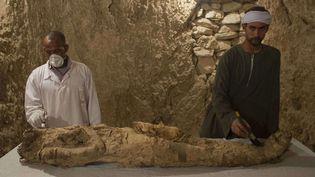 Nouvelle découverte de momie à Louxor (9 décembre 2017)  ( Hamada Elrasam / AP / Sipa)