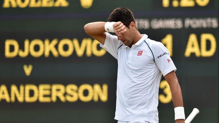 Novak Djokovic a dû batailler face à Kevin Anderson (GLYN KIRK / AFP)