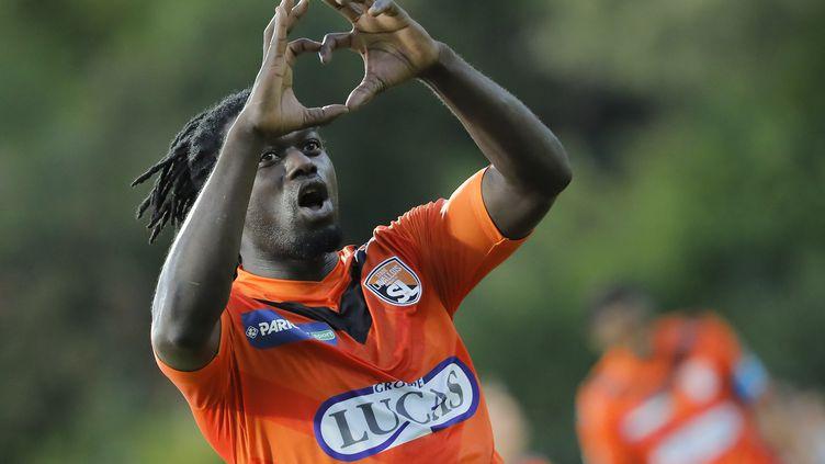 Seydou Kone, buteur face à Troyes, au 1er tour de la Coupe de la Ligue. (STEPHANE ALLAMAN / STEPHANE ALLAMAN)