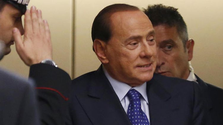 Le président du Milan AC, Silvio Berlusconi
