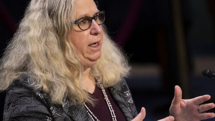 Rachel Levine a été nommée ministre adjointe à la Santé aux Etats-Unis le 24 mars 2021. (CAROLINE BREHMAN / POOL / AFP)