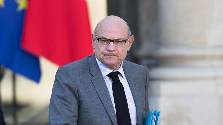 Jean-Marie Le Guen quitte le palais de l'Elysée, à Paris, le 15 février 2017. (YANN BOHAC / CITIZENSIDE / AFP)