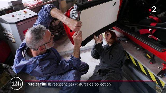 Automobile : un père et sa fille redonnent vie à des voitures de collection