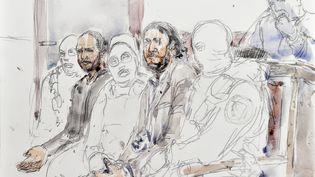 Salah Abdeslam a refusé de répondreà la justice, lundi 5 février, à l'ouverture de son procès à Bruxellespour unefusillade avec la policedans la capitale belge en mars 2016. (BENOIT PEYRUCQ / AFP)