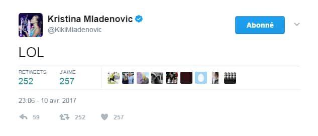 Le tweet de Mladenovic