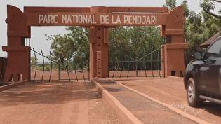 L'entrée du parc de la Pendjari, au Bénin, le 8 mai 2019. (FRANCE 2)
