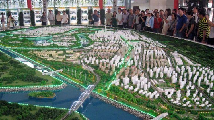 La Chine fait appel aux meilleurs architectes du monde pour mettre sur pieds des métropoles du futur. (AFP PHOTO/Allison JACKSON)