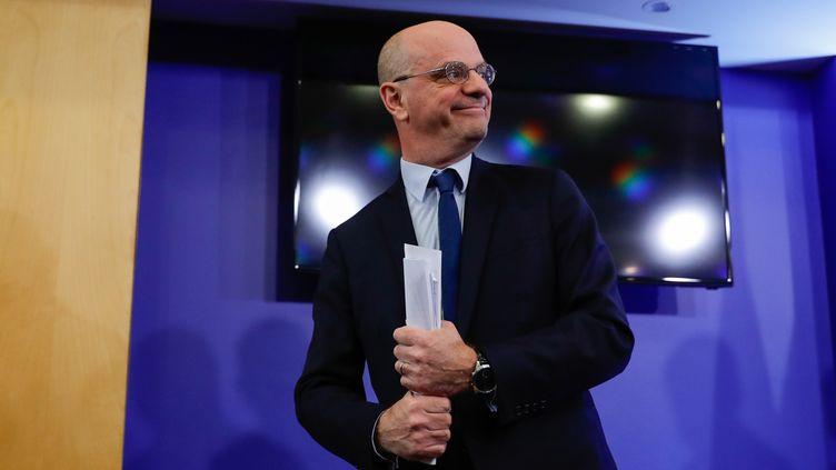 Jean-Michel Blanquer, ministre de l'Éducation nationale et de la Jeunesse, à Paris, le 13 mars 2020. (THOMAS SAMSON / AFP)