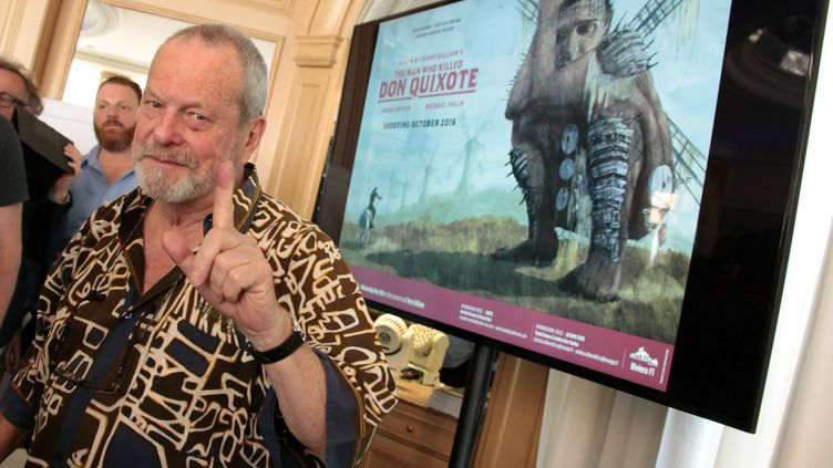 Le réalisateur Terry Gilliam lors d'une conférence de presse au Festival de Cannes, le 18 mai 2016. (MAXPPP)