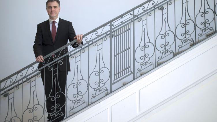Christophe Habas est le grand maître sur Grand Orient de France. (BERTRAND LANGLOIS / AFP)