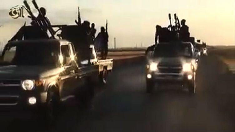 Capture d'écran d'une vidéo de l'organisation Etat islamique datant du 23 septembre 2014. (IS RAQQA / AFP)
