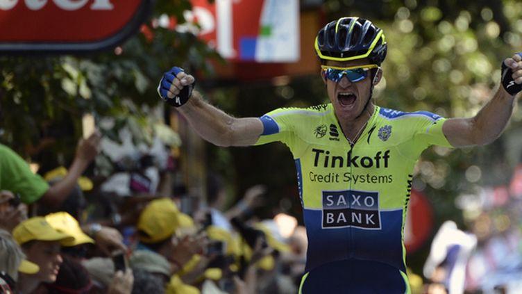 Michael Rogers savoure sa victoire sur le Tour de France (JEFF PACHOUD / AFP)