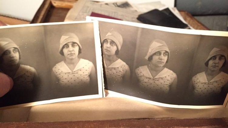 Photos de Madeleine, une défuntedont Clara Beaudoux raconte la vie sur Twitter depuis le 2 novembre 2015. (CLARA BEAUDOUX / TWITTER)