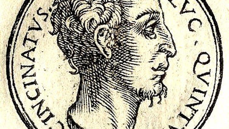 Gravure du XVIe siècle représentant Cincinnatus. (GUILLAUME ROUILLE / WIKIMEDIA COMMONS)