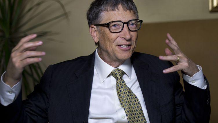 Le fondateur de Microsoft, Bill Gates, le 21 janvier 2014 à New York (Etats-Unis). (DON EMMERT / AFP)