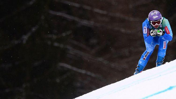 Tina Maze vise cinq médailles lors de ces Mondiaux autrichiens (OLIVIER MORIN / AFP)