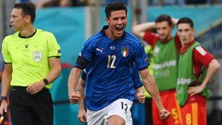 Matteo Pessina célèbre son but face au pays de Galles. (ANDREAS SOLARO / POOL)