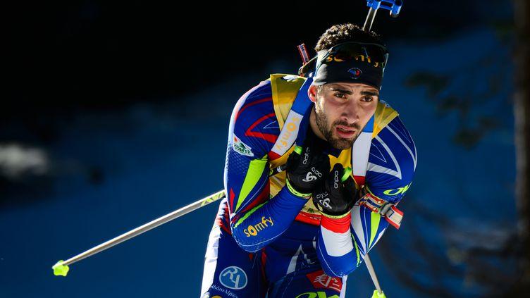 Martin Fourcade fera-t-il aussi bien qu'à Ruhpolding en 2012, où il avait remporté 3 médailles d'or?  (JURE MAKOVEC / AFP)