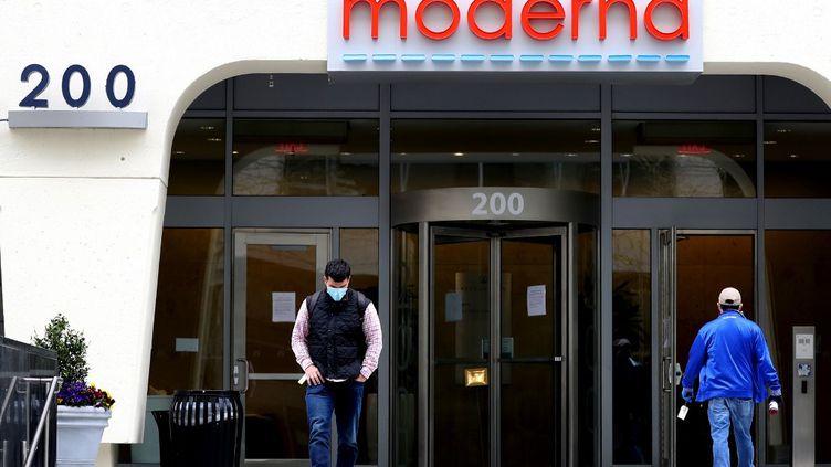 Les locaux du laboratoire Moderna dans leMassachusetts (Etats-Unis). (MADDIE MEYER / GETTY IMAGES NORTH AMERICA / AFP)