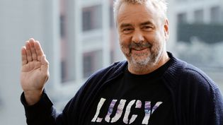 """Luc Besson à Moscou pour faire la promotion de son film """"Lucy"""" (9 septembre 2014)  (Vasily Maximov / AFP)"""