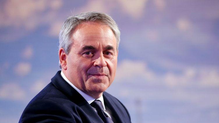 Xavier Bertrand sur le plateau de France 2, à Paris, le 30 septembre 2021. (THOMAS SAMSON / AFP)