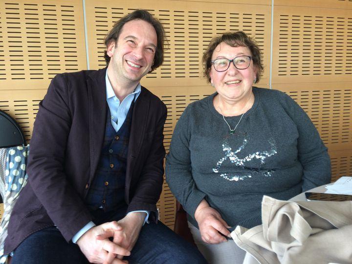 François Busnel avec Marie-Reine, juré  (Culturebox)