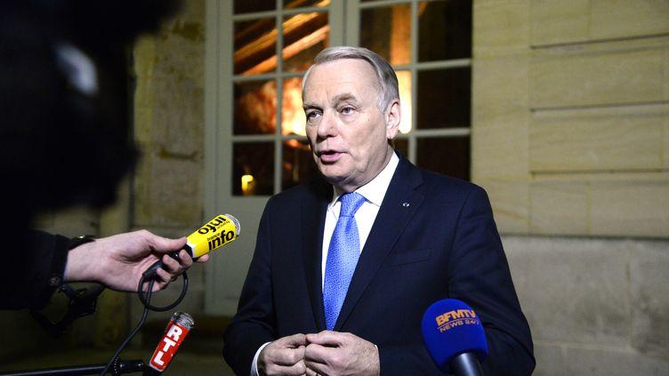 Jean-Marc Ayrault commente les chiffres du chômage le27 janvier 2014. (BERTRAND GUAY / AFP)