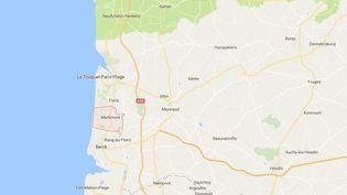 Capture écran de la commune de Merlimont (Pas-de-Calais). (GOOGLE MAPS)