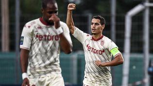 Wissam Ben Yedder a donné l'avantage à Monaco face à Clermont dimanche 26 septembre. (JEFF PACHOUD / AFP)