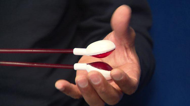 """Le """"spoonshake"""", instrument de percussion inventé par un musicien messin. (CAPTURE D'ÉCRAN FRANCE 3 / ERIC BERTRAND)"""