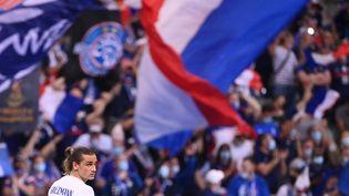 Antoine Griezmann, le 8 juin 2021, lors d'un match amical entre la France et la Buglarie. (FRANCK FIFE / AFP)