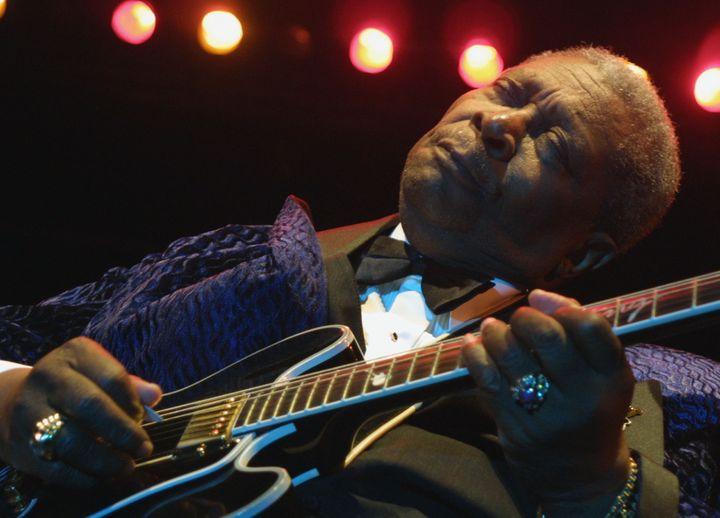 B.B King au festival du jazz de Nice, en 2001  (PASCAL GUYOT / AFP)