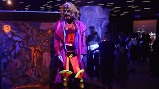 L'exposition de Rammellzee au Red Bull Arts New York (3 mai 2018)  (Hector Retamal / AFP)
