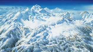 L'un des panoramas alpins de Pierre Novat  (France 3 Culturebox capture d'écran)