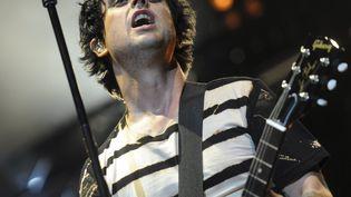 Billie Joe Armstrong, le chanteur de Green Day, le 30 août 2012 à Berlin (Allemagne). (BRITTA PEDERSEN / MAXPPP)