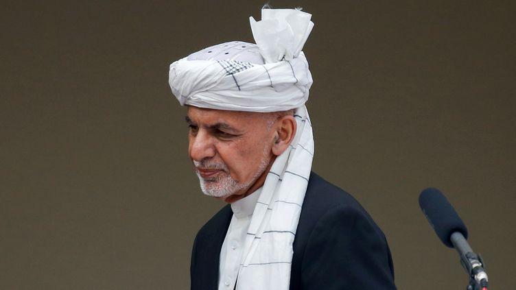 Le président Ashraf Ghani à Kaboul en Afghanistan, le 9 mars 2020. (MOHAMMAD ISMAIL / REUTERS)