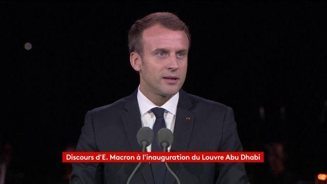 Discours de Macron à l'inauguration du Louvre d'Abu Dhabi