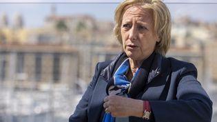 Sophie Cluzel, secrétaire d'État chargée des Personnes handicapées et tête de liste LREM aux élections régionales en Provence-Alpes-Côte d'Azur, le 2 mai 2021 à Marseille. (SPEICH FREDERIC / MAXPPP)