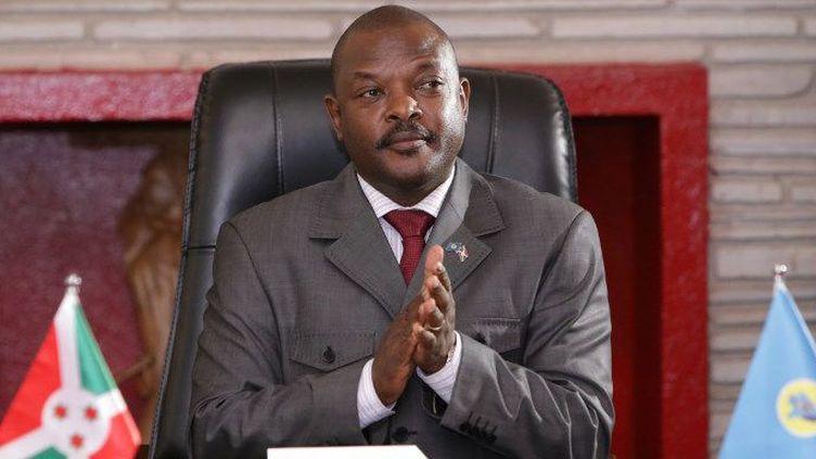 Le président du Burundi, Pierre Nkurunziza, le 7 juin 2018 (STR / AFP)