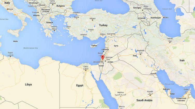 Le journaliste Omar Nazzal a été arrêté, le 23 avril 2016, à la frontière entre la Cisjordanie, territoire palestinien occupé par Israël, et la Jordanie. (GOOGLE MAPS)